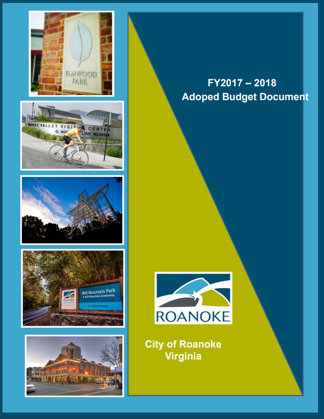 Image of Cover of Adopted Budget Document FY 2017-2018