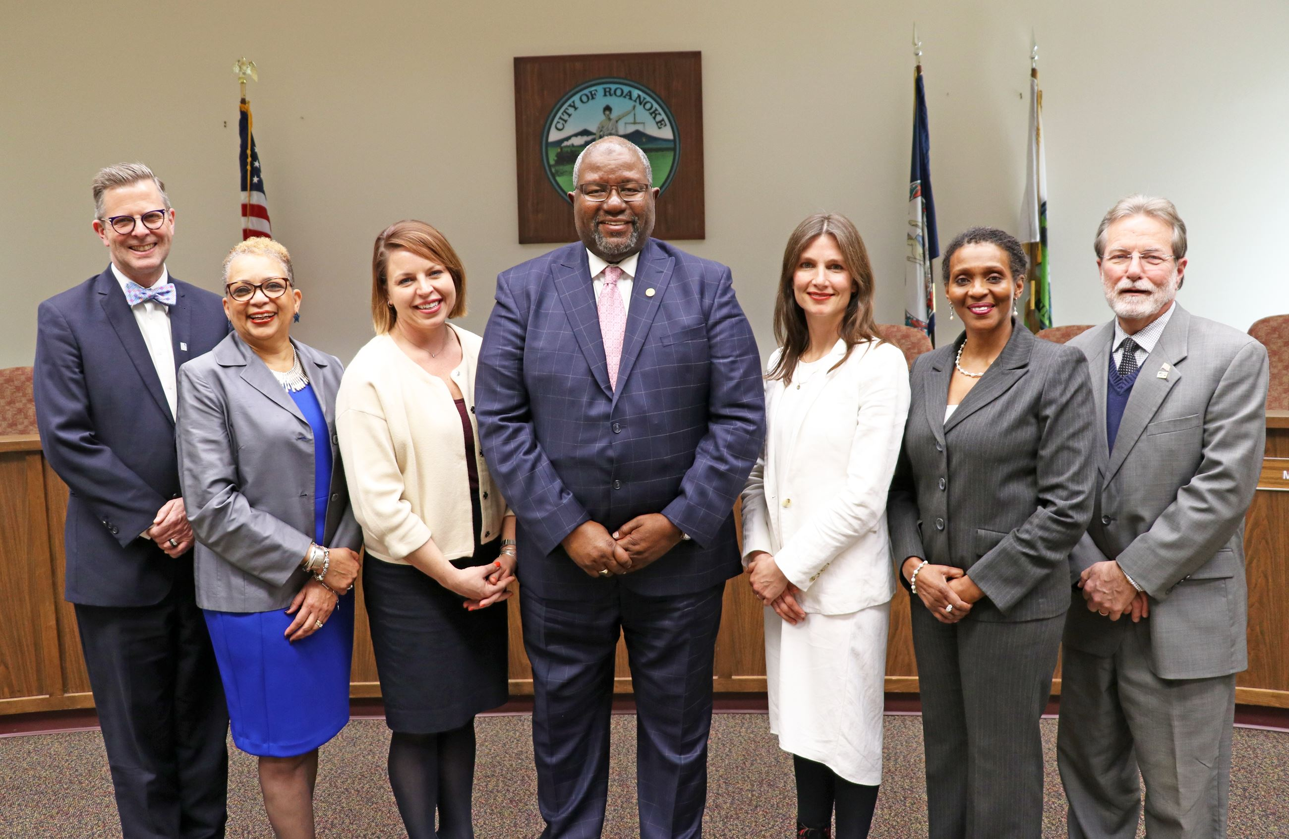 Group photo of Roanoke City Councilmembers