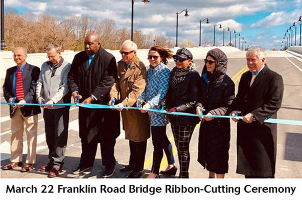 Franklin Road Bridge Ceremony with caption