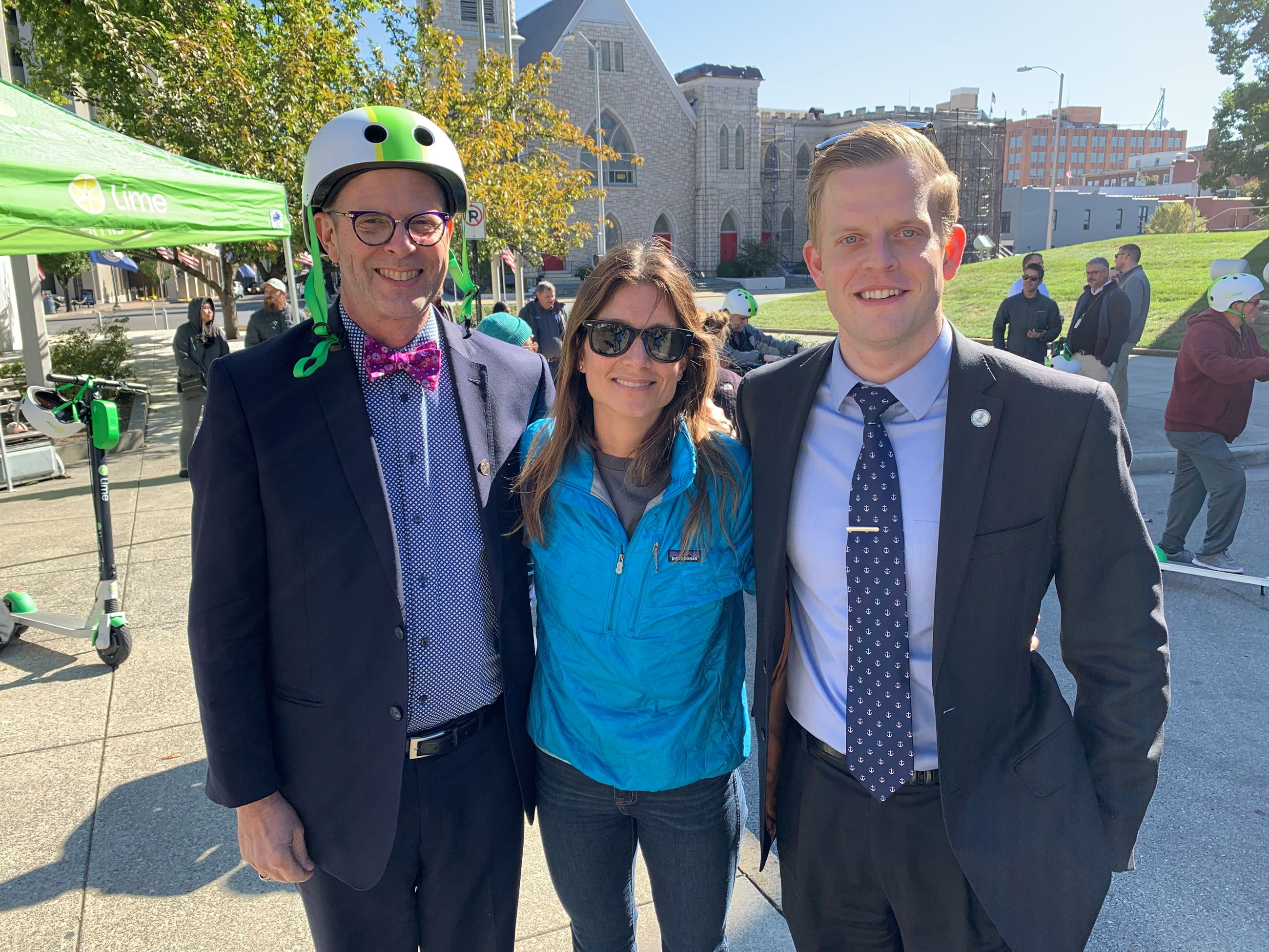 Vice Mayor Cobb & Councilwoman Osborne attend the roll out of the new Lime Scooters in downtown Roan