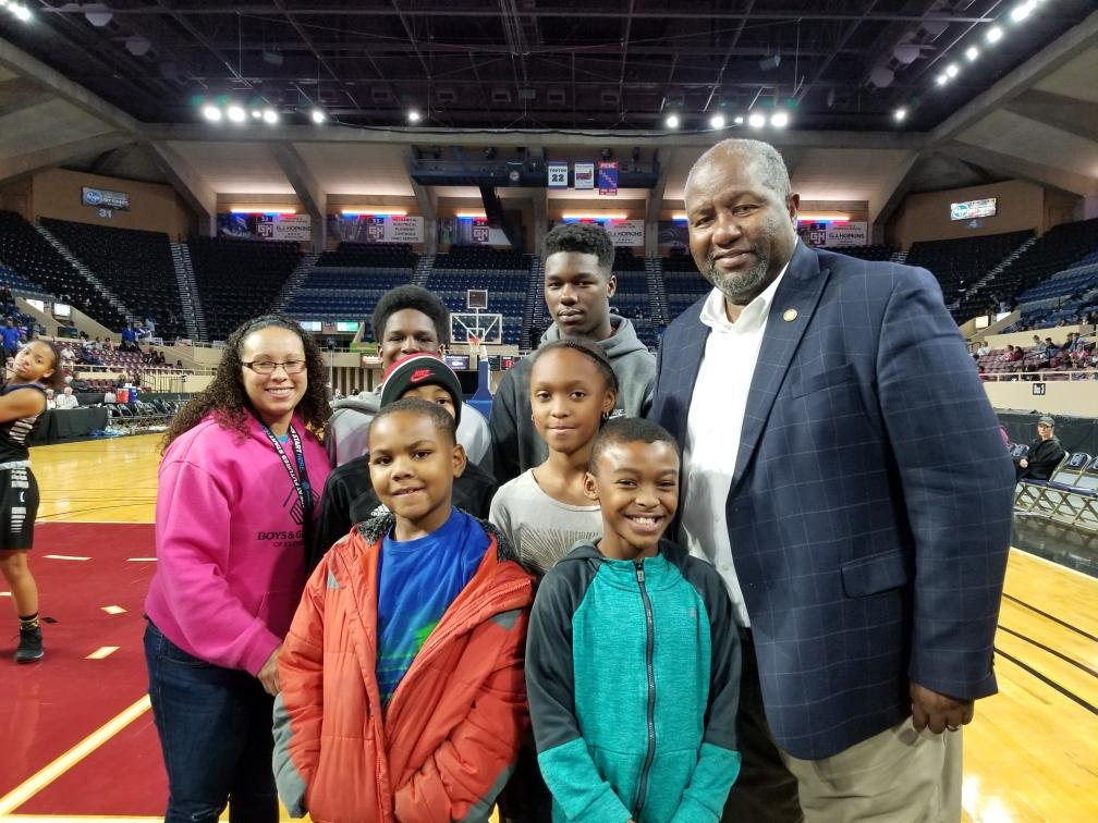 Boys and Girls Club of SW VA at Lea Winter Classic with Mayor Sherman Lea