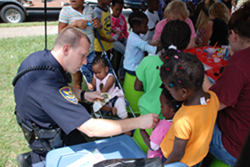 Officer Working with Kids