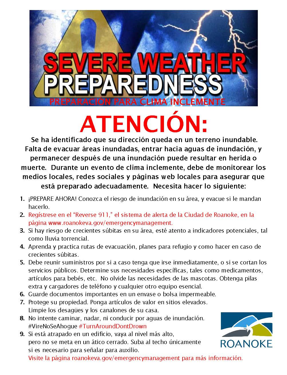 Flood warning flyer1SPANISH