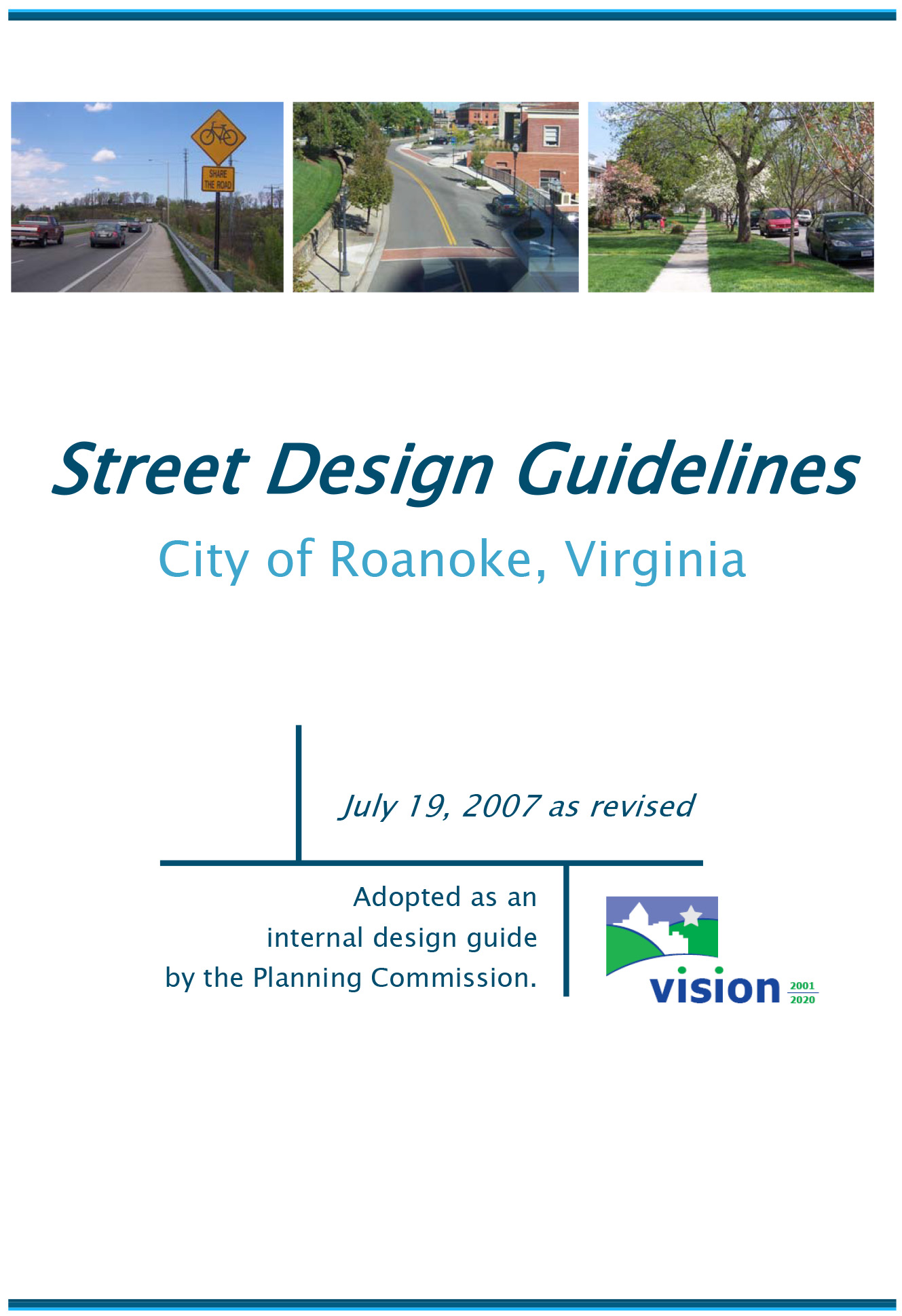 Street Design Guidelines Cover