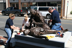 Volunteers Cleaning Memorial