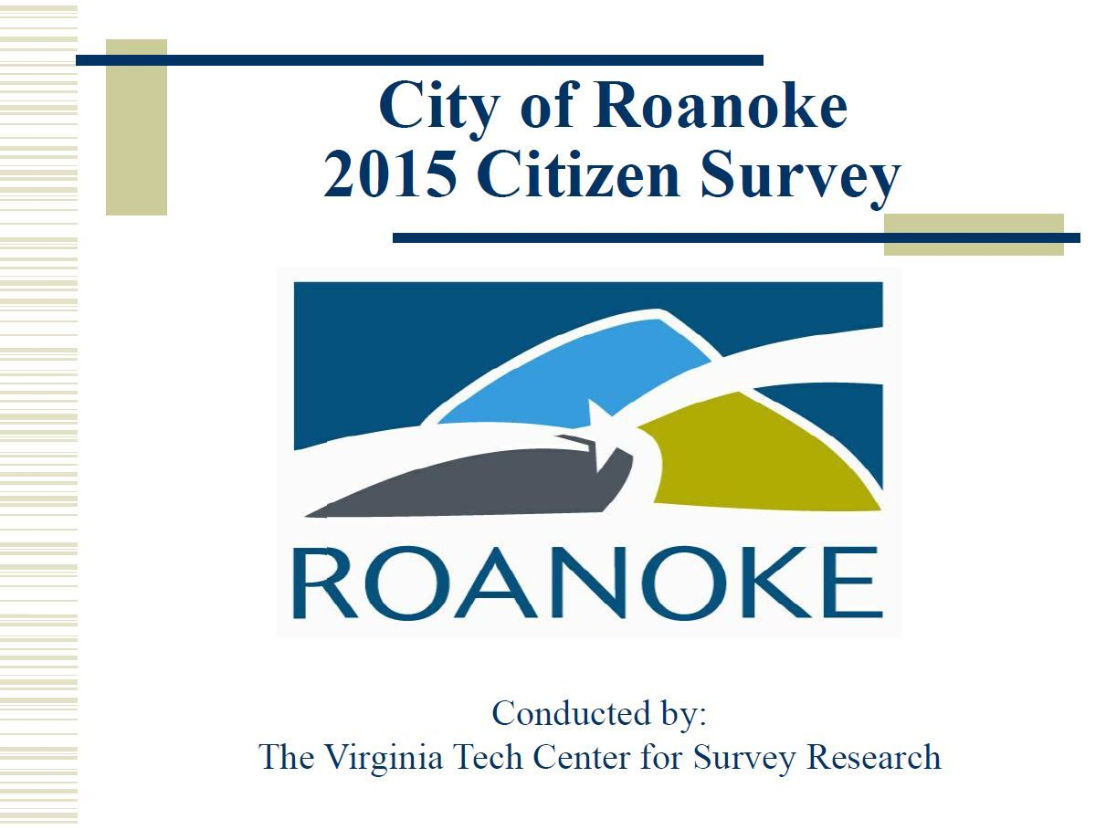 2015 Citizen Survey presentation