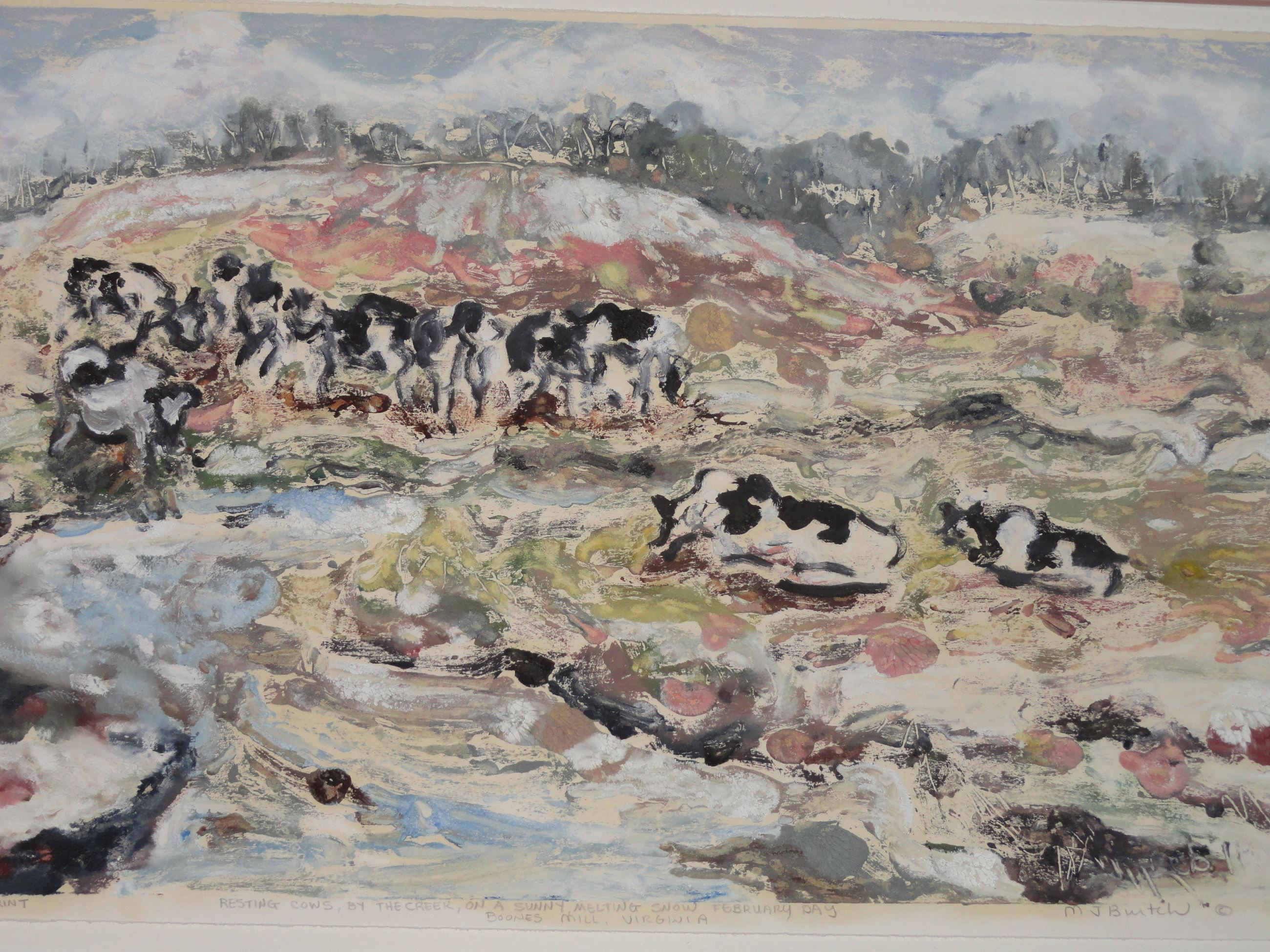 Resting Cows by Burtch