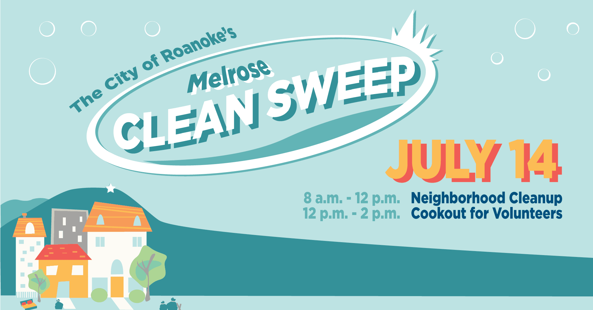 Graphic for Roanoke Melrose Clean Sweep 2018 Event