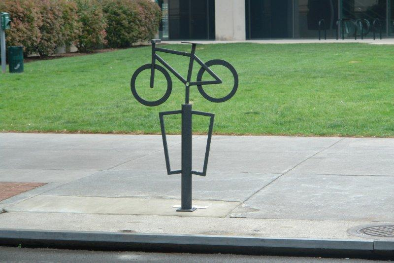Bike Rack Number 9 Welded Steel Sculpture