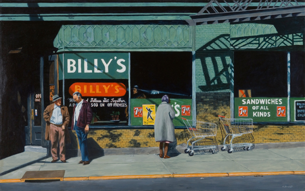 Billy's Ritz Oil Painting