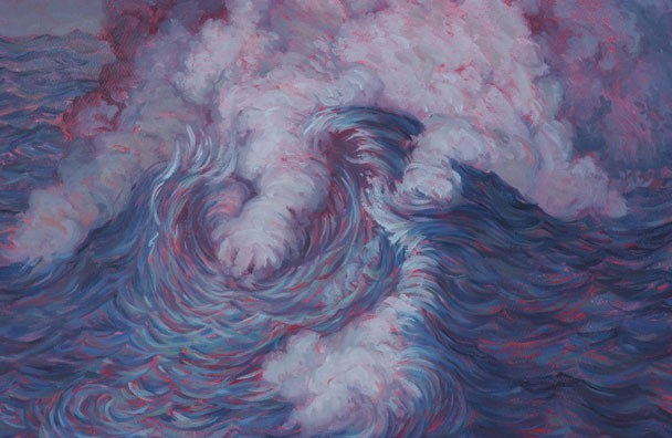 Cloud Wave Oil Painting