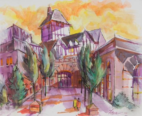 Hotel Roanoke Watercolor