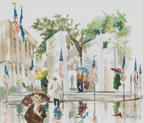 Lee Plaza Watercolor