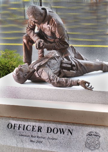 Officer Down Sculpture