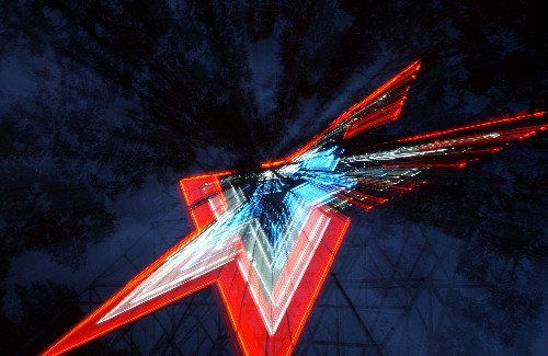 Roanoke Star Steel and Neon Sign