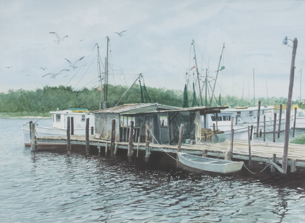 Shrimpers Watercolor