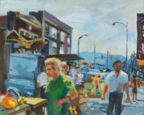 Star from City Market, 1980 Oil Painting