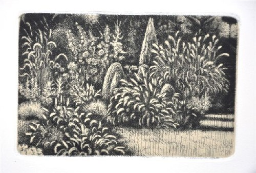 Summer Garden Etching