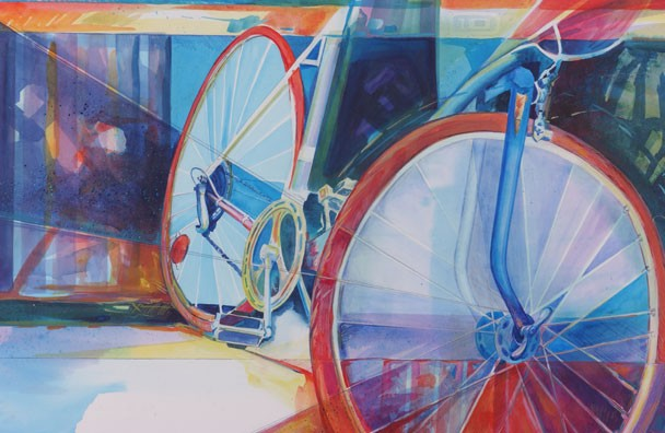 Ten Speed Bike Watercolor Painting