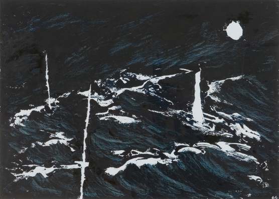 The Moon and the Sea Monoprint